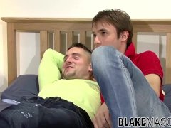 'UK amateurs Andy O and Dominic Belko sucking and anal'