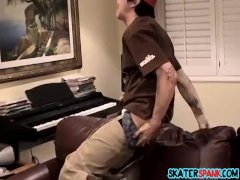 Young guy gets a spank session of his life in this video