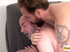 bald mature hunk analfucked after rimjob