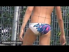 spy on hot teen boy bulge and butt in speedos - www.camboys7.com