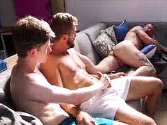 Brothers jack Off To Dads booty While He Is Asleep